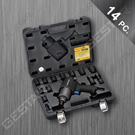 "1/2"" Dr. Impact wrench & Socket Set - 14 Pc."